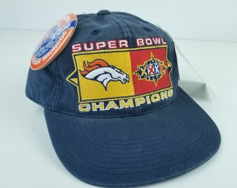 cd4db4926 Vintage 90s Deadstock with Tags denver Broncos Super Bowl Champions hat