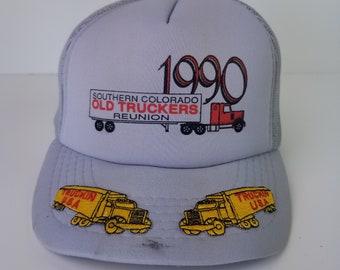 14059d840ba088 Vintage 90s 1990 Truckin' USA Southern Colorado Truckers Truck Hat