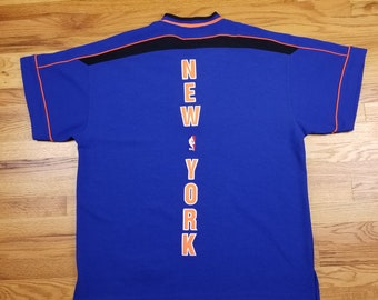 Vintage 90s Starter New York Knicks NBA Authentics Warm Up Shirt Jersey  size XL 983593deb