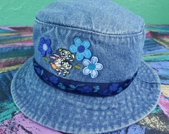 8d84beca98049 Vintage PowerPuff Girls Denim Bucket Hat Cartoon Network Adult Swim Power  Puff