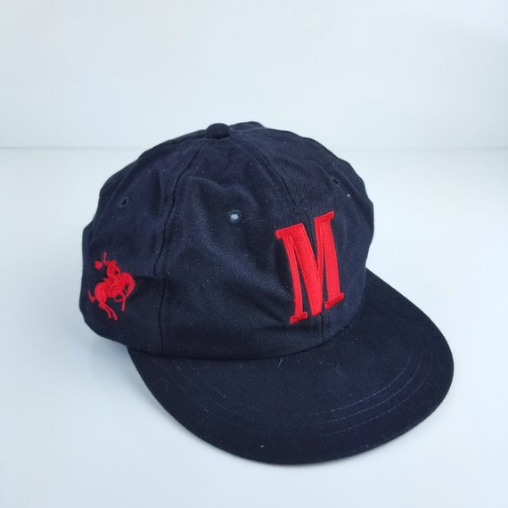 599f09df622 Vintage Marlboro Rodeo Big M Black Red Strapaback Hats Caps