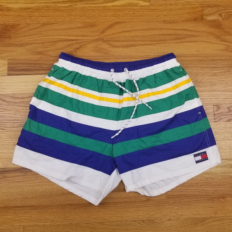 3a61711942 Vintage 90s Tommy Hilfiger Swim Trunks Shorts | Etsy