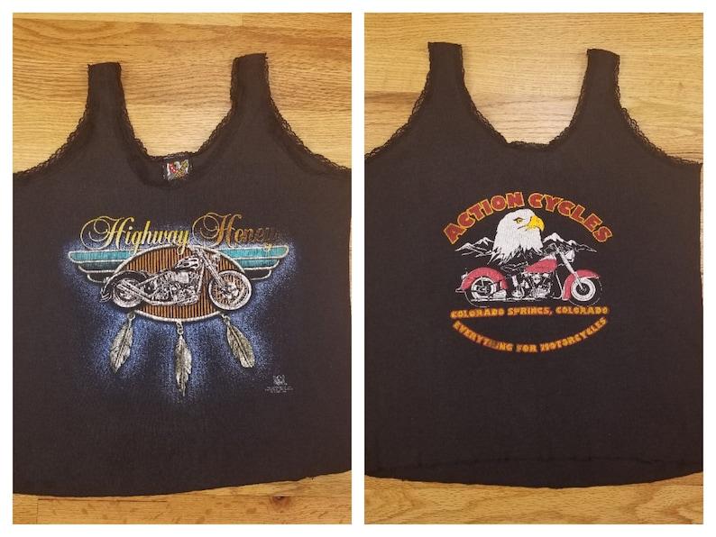 e0e5196b5d50a Vintage 90s 3d Emblem Harley Davidson Womens Tank Top Shirt