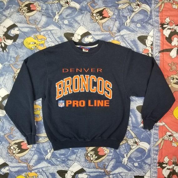 des années 90 champion Denver Broncos Pro Line Sweat pull Vintage T Shirt