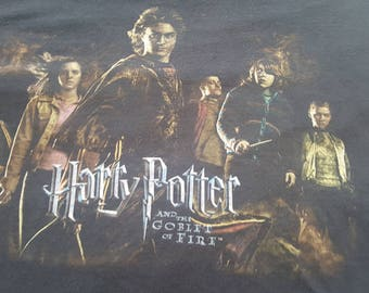 Harry Potter and the Goblet of Fire Vintage T Shirt Size L