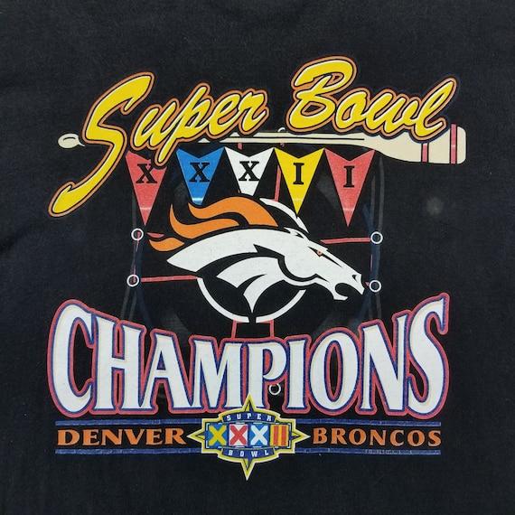e0c00084215 Vintage 90s Denver Broncos Super Bowl XXXII Champs Shirt Size