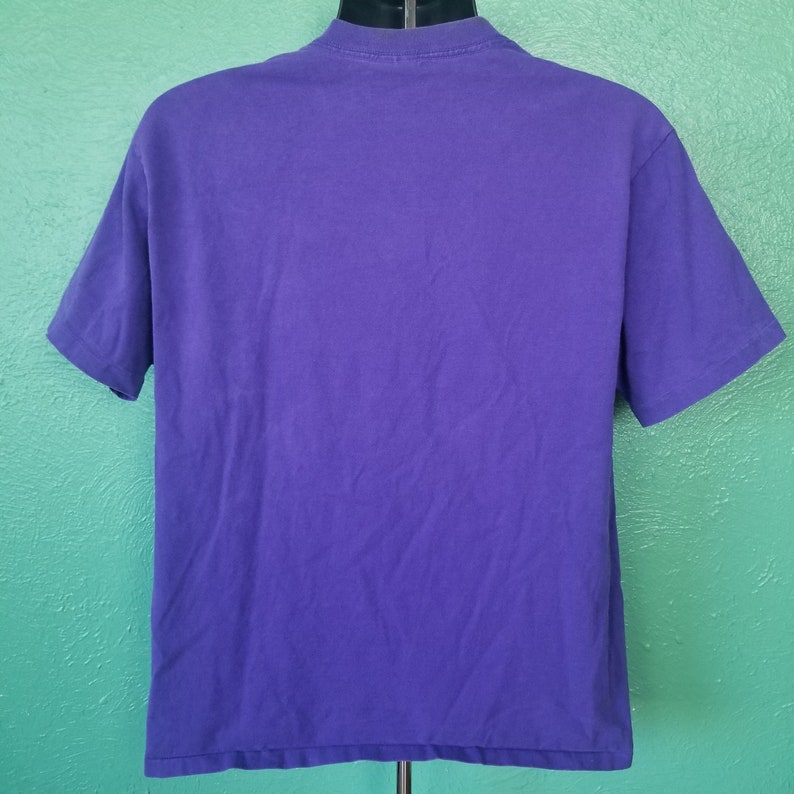 Vintage 90s Colorado Rockies Baseball Field Nut Meg 1992 Purple T Shirt Size Large L