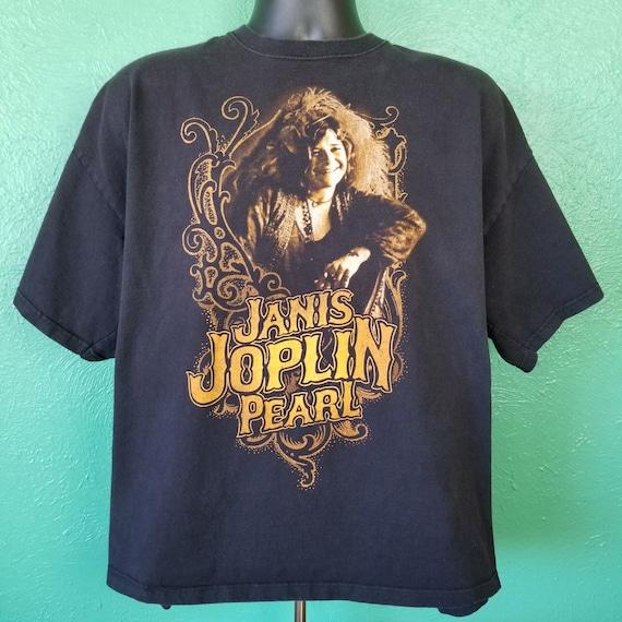 Vintage 90s Janis Joplin Pearl Black T Shirt Size