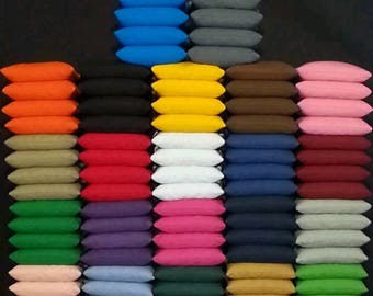 2 Sets of 8 all weather cornhole bean bags pick your 2 colors FREE SHIPPING