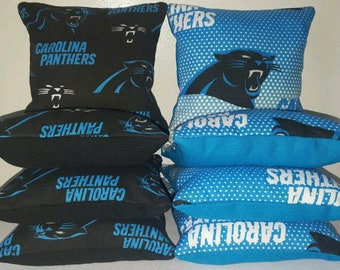 Set Of 8 Carolina Panthers Cornhole Bean Bags FREE SHIPPING