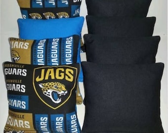 Jacksonville JAGUARS JAGS Set Of 8 Corn Hole Bean Bags FREE SHIPPING!!!