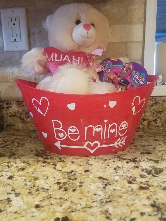 Valentine S Day Baskets Etsy