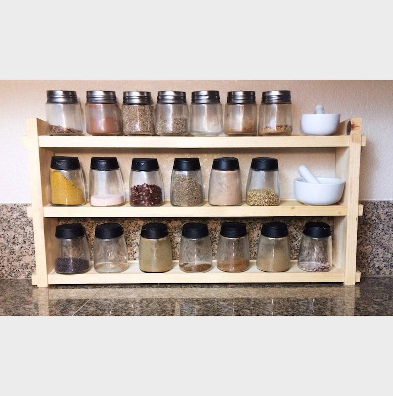 Super Ez Holz Gewürzregal Gewürz Regal Küche Organizer Mit Einbaum Regale Anpassbare Kräuter Und Gewürze Einweihungsparty Geschenk