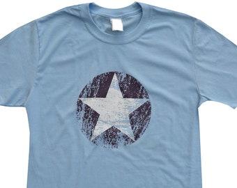 Mens USA STAR skyblue T.shirt.