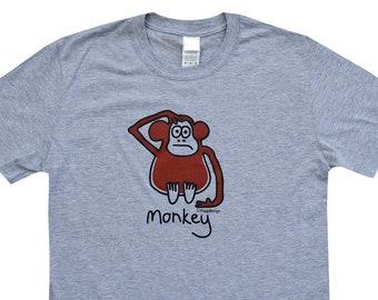 Mens cheeky MONKEY grey T.shirt.