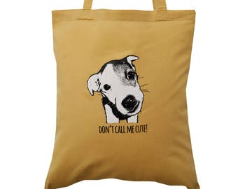 Cute JACK RUSSELL caramel cotton Tote Bag