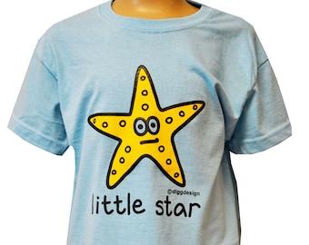 Kids unisex Skyblue Little star T.shirt - Ideal for Summer!