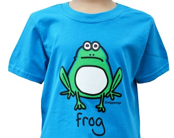 35462932ad4e Kids Unisex blue Frog T.shirt