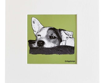 Cheeky JACK RUSSELL Digital download print. Print yourself.
