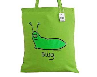 Cute Slimy SLUG geen cotton Tote Bag