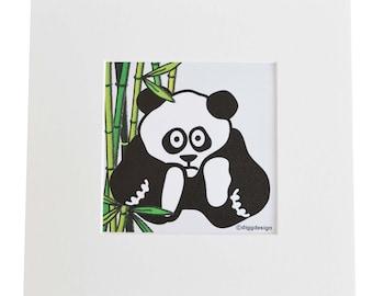 PANDA Digital download print. Print yourself.