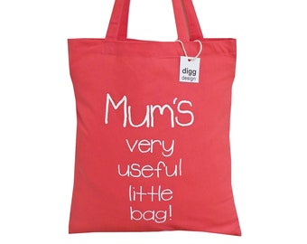 Mum's useful bag! Dusty Pink cotton Tote Bag