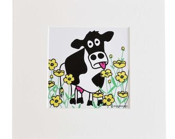 MOO COW Digital download print. Print yourself.
