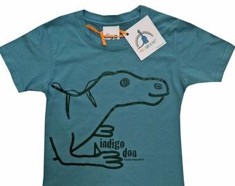 Kids unisex Iguanadon Dinosaur T.shirt. Delivered in rainbow gift bag.