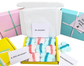 Special Offer! Tiny treats! Little box of butterfly mallows. Baby announcement gift etc. Personalisable.