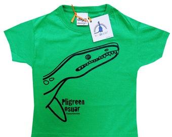Kids unisex Plyosaur Dinosaur T.shirt. Delivered in rainbow gift bag.