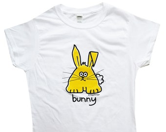 Womens hop BUNNY fitted white T.shirt.