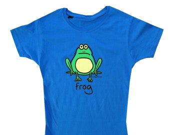 Womens FROG fitted Azure blue T.shirt.