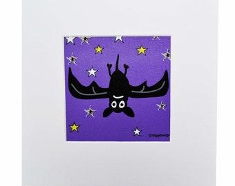 BAT Digital download print. Print yourself.