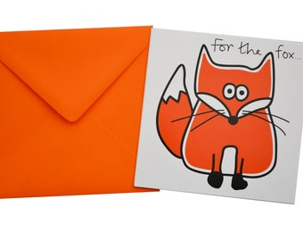 Fox Birthday card. Comes with lovely matching coloured envelope