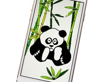 PHONE WALLPAPER. Panda Digital download.