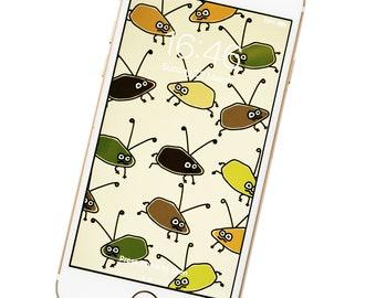 PHONE/iPAD WALLPAPER. Bugs. Digital download.