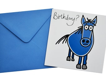 Horse Birthday card. Comes with lovely matching coloured envelope