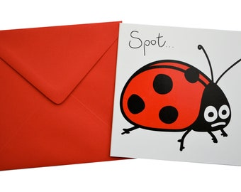 Dotty Ladybird Birthday card. Comes with lovely matching coloured envelope