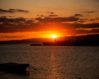 Fujisawa Bay at Sunset