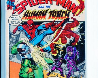 Marvel Comic Book SPIDER-MAN #2 Frightful Four Human Torch