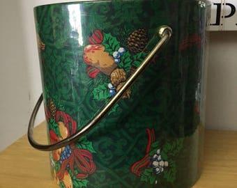FREE SHIPPING Vintage Kraftware Holiday Christmas Ice Bucket