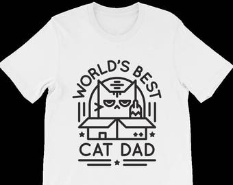979550de World's Best Cat Dad Shirt - Cat Dad T-Shirt - Gift For Cat Lovers - Good  Father's Day Gift for Cat Lovers - Funny Cat Shirt