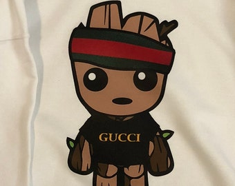 f63a1977e Baby Groot Gucci Shirt / Baby Groot Gucci Green Red Striped Tee / Baby  Groot T-Shirt
