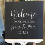 Vinyl Sticker Decal Wedding Welcome - 18/22/30 inches wide - Make your own Wedding Welcome Signage with this easy to apply Vinyl Decal