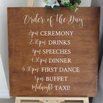 Vinyl Decal Sticker Order of the Day 15 for A2 sign - Easy to Apply Wedding Sign Sticker - Wedding Signage DIY