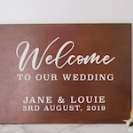 Vinyl Decal Sticker for DIY Wedding Welcome Sign - 11.5 inches/15 inches wide - Easy to Apply Wedding Sign Decal - Wedding Signage DIY