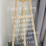 Vinyl Decal for A1 Order of the Day Sign - Easy to Apply Wedding Sign Sticker - Wedding Signage DIY