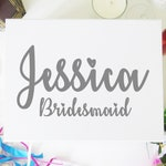Name and Role Vinyl Sticker for Bridal Party Gift Box - Bride or Bridesmaid Gift, Maid of Honour Gift, Mother of the Bride Gift, Groom Gift