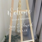 Vinyl Decal Sticker for DIY Wedding Welcome Sign - 11 inches/14.5 inches wide - Easy to Apply Wedding Sign Decal - Wedding Signage DIY
