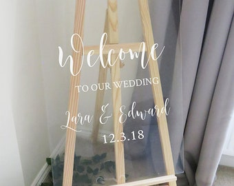 Vinyl Decal Sticker for DIY Wedding Welcome Sign // 11 inches/14.5 inches wide // Easy to Apply Wedding Sign Decal // Event Signage DIY